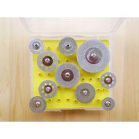 Набор алмазных гальванических отрезных мини дисков-10 штук
