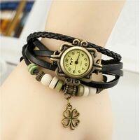 """Часы-браслет """"Мори"""" из натуральной  воловьей кожи. Старинная Корейская версия"""