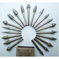Алмазные шлифовальные головки с хвостовиком 6мм в наборе-20 штук